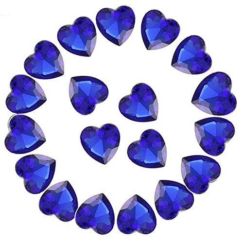 - Crystal Rhinestones 50pcs AB Crystals Pointback Heart Glass Rhinestone for DIY Crafts Jewelry Making,12mm,Sapphire Blue