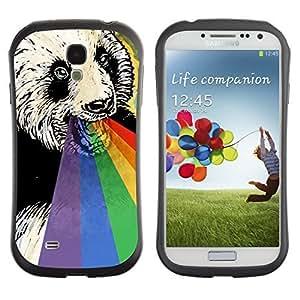 Hybrid Anti-Shock Bumper Case for Samsung Galaxy S4 / Rainbow Panda wangjiang maoyi