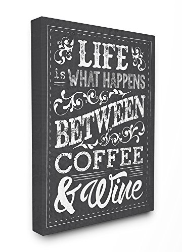 - The Stupell Home Decor Collection Life, Between Coffee and Wine Chalk Art, 24 x 30