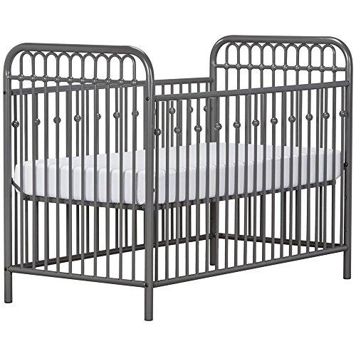 51VkHB4roKL - Little Seeds Monarch Hill Ivy Metal Crib, Gray