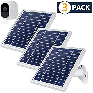 iTODOS 3 Pack Solar Panel Compatible with Arlo Pro 2, 11.8Ft Outdoor Power Charging Cable and Adjustable Mount ,Not for Arlo Ultra and Arlo Pro3(Silver)