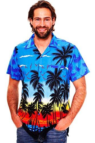 Funky Hawaiian Shirt, Beach, blue, XL