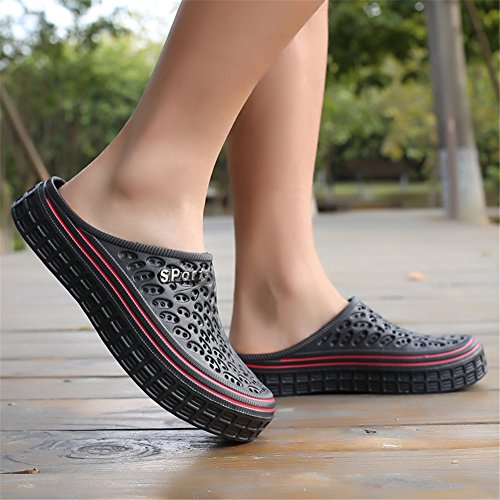 Pantoufles Plage à Sabots Noir BETY Outdoor Femmes Chaussons de Mules Été Sandale Hommes Clog Chaussures Enfiler AOOwqgU