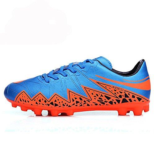 Xing Lin Botas De Fútbol Los Hombres Zapatos De Fútbol Del Clavo De Goma Zapatillas De Entrenamiento De Fútbol De Césped Artificial Blue Orange