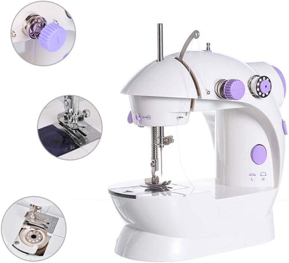 Haoshangzh55 Electrónica Máquina De Coser Portátil Máquina De Coser para Principiantes Y Máquina De Coser Mini Infantil para Niños del Hogar De Iniciación para Niños Y Niñas