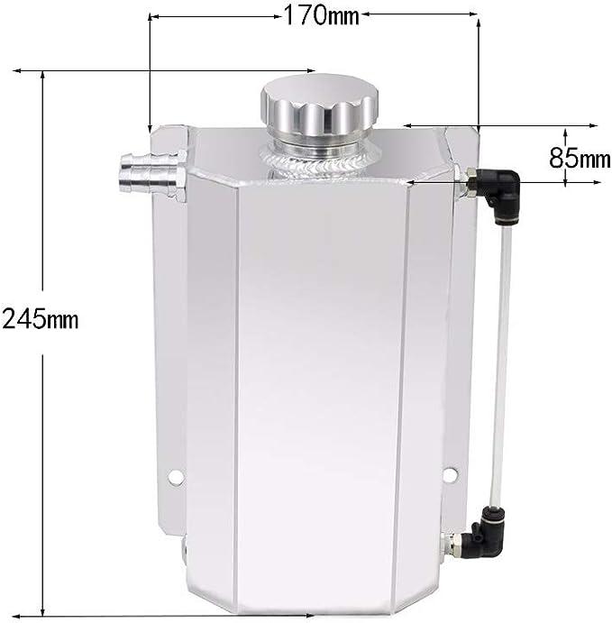 Black wetoto 2L Alloy Universal Water Coolant Overflow Expansion Tank Reservoir Aluminum Cap
