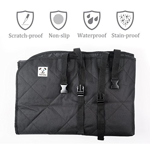 PetSpy-Luxury-Dog-Car-Seat-Cover-for-All-Vehicles-with-Side-Flaps-and-Seat-Anchors-Hammock-Style-Machine-Washable-Non-Slip-and-Waterproof