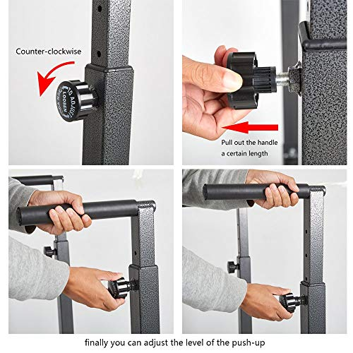 Livebest Heavy Duty Adjustable Power Tower Multi-Function Strength Training Dip Stand Workout Station Fitness Equipment for Home Gym by Livebest (Image #6)