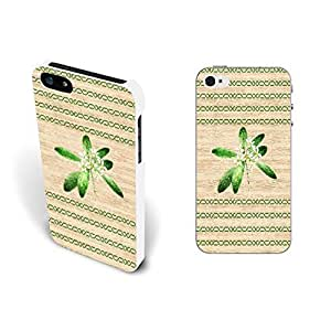 Cool Green Stripes on Wood Texture Hard Plastic Skin Case For Sam Sung Note 2 Cover (white)