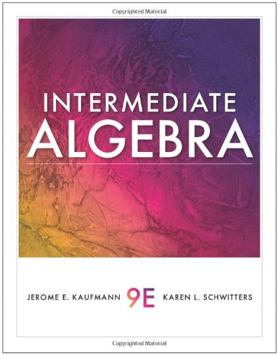 Intermediate Algebra (Available 2011 Titles Enhanced Web Assign)