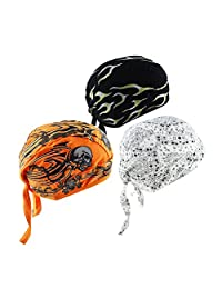 Cycling Doo RAG Skull Cap Hat Bandana Head Wrap Breathable Helmet Liner