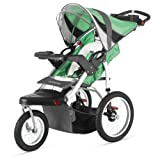 Schwinn Turismo Single Swivel Stroller - Green Black