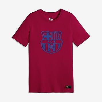 Nike FC Barcelona Crest tee YTH - Camiseta de Manga Corta para niño ... f562a3d42a4