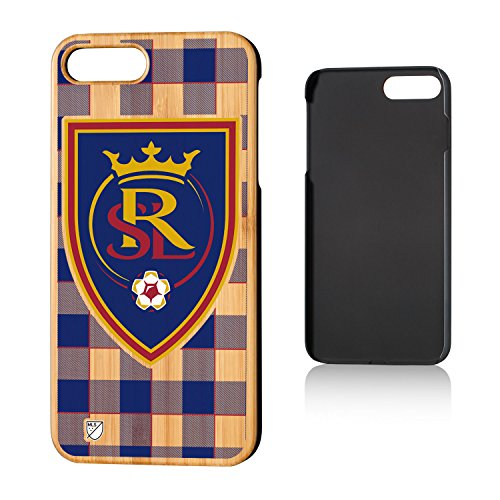 Keyscaper MLS Real Salt Lake Plaid Case for iPhone 8 Plus/7 Plus, Wood by Keyscaper