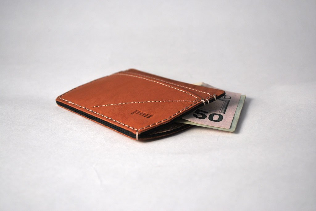 Polt W2 Minimalist Leather Wallet/ Chestnut