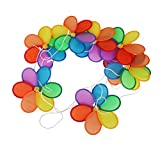 8Pcs Flower Windmill Wind Spinner Tent Garden Decoration Multi Colors