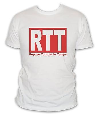 L'abricot blanc T-Shirt Humour RTT : Repose