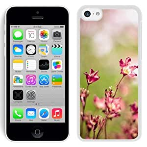 New Beautiful Custom Designed Cover Case For iPhone 5C With Sunny Bright Flower Blurry (2) Phone Case