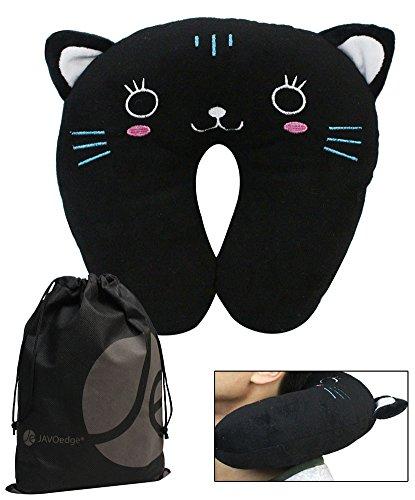 Cat Children's Neck Pillow (3 Yrs +), Bonus Reusable Storage Bag