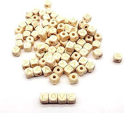 Wood Love Heart Beads Unfinished Wooden Teether Bead YD