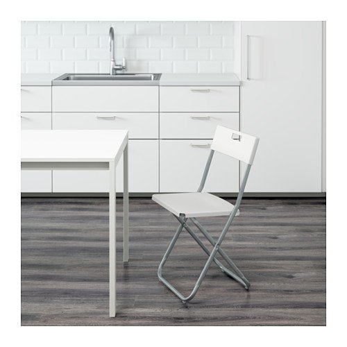IKEA Folding chair, white (2)