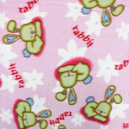 Sleeping Rabbits Animal Fleece Fabric product image
