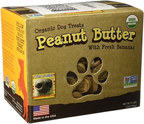 Wet Noses All Natural Dog Treats Peanut Butter w Bananas 5lb by Wet Noses