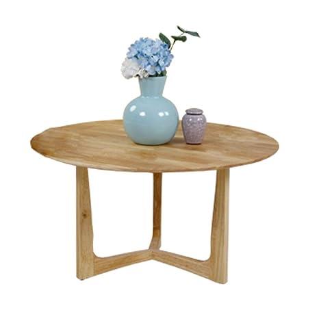 Amazon.com: Mesa de centro de madera maciza pequeña mesa ...