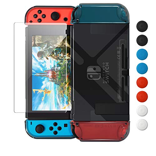 Dockable Cover Case for Nintendo Switch,Protective Case for Nintendo Switch with Screen Protector for Nintendo Switch - Gray