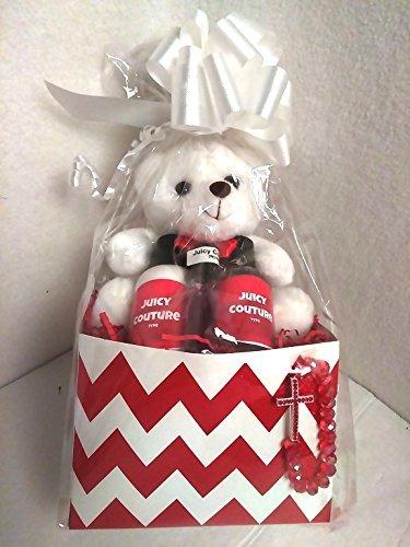[Valentine's Day White Gift for her women Girlfriend Bracelet, lotion oil bath wash plush teddy bear I love you] (Monster High Costumes Walmart)