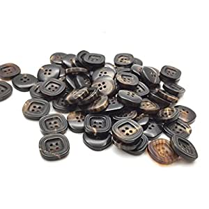 natural ox horn buttons suits four high end men 39 s casual button shaped button brown. Black Bedroom Furniture Sets. Home Design Ideas