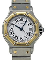 Cartier Santos Octagon Swiss-Automatic Female Watch 2966 (Certified Pre-Owned)