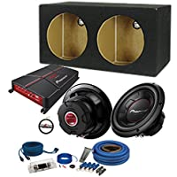 Pioneer GM-A5702 Amplifier with (2) TS-W256R 10 Subwoofers & Dual 10 Sealed Enclosure with a FREE SOTS Air Freshener