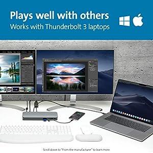 Kensington - New Thunderbolt 3 Docking Station SD5300t - SD Card Reader, 135W and Dual 4K for Mac and Windows (K38625US) (Tamaño: Thunderbolt 3)