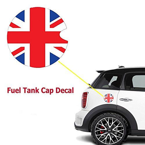 1x Red Blue Union Jack UK Flag Pattern Vinyl Sticker Decal For Mini Cooper Gas Cap Cover