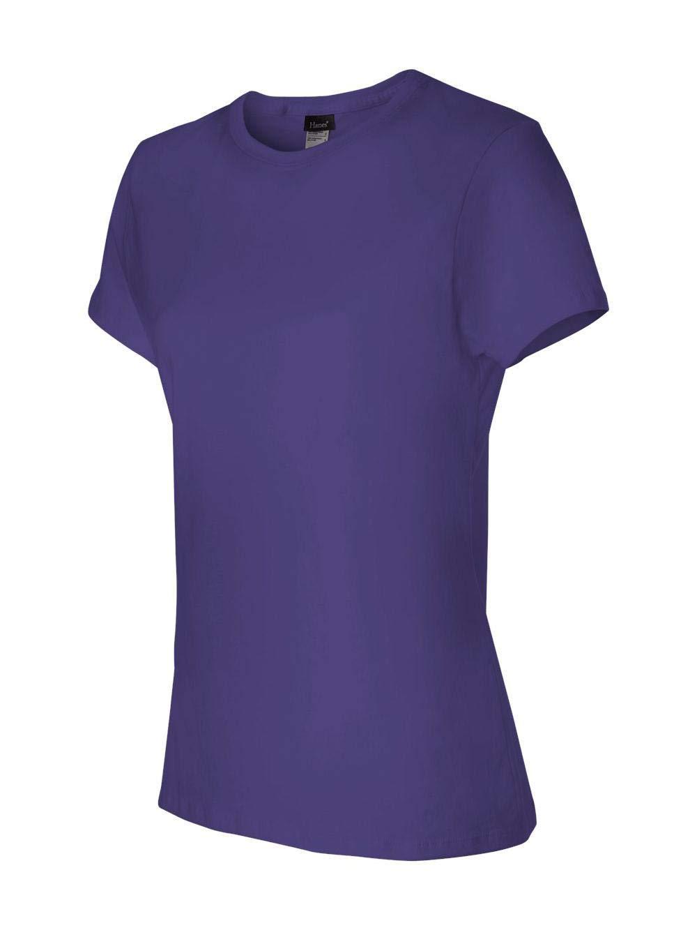 Hanes 4.5 oz Women's NANO-T Lightweight Premium T-Shirt - Purple - L