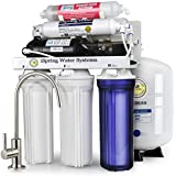 iSpring RCC7P-AK High Capacity, Boosted Performance Under Sink 6-Stage Reverse Osmosis Drinking Water Filtration System and Ultimate Water Softener with Alkaline Remineralization and Pump - WQA Gold Seal Certified