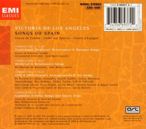 Songs Of Spain / De Los Angeles, et al by EMI Classics
