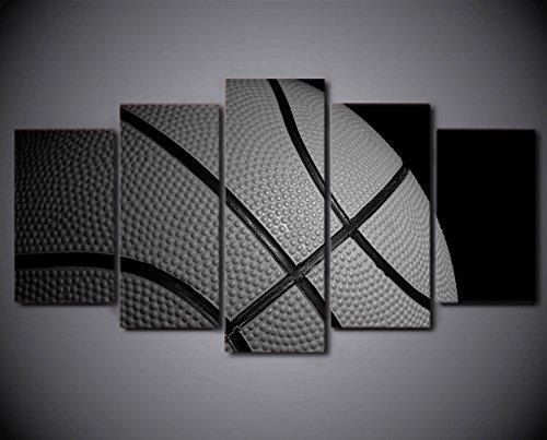 5 PCS Framed Basket Ball Painting/Prints - 5 piece Canvas For Office/Gym/Home/Living Room (Medium (2035cm2+2045cm2+2055cm1)) by Epikkanvas