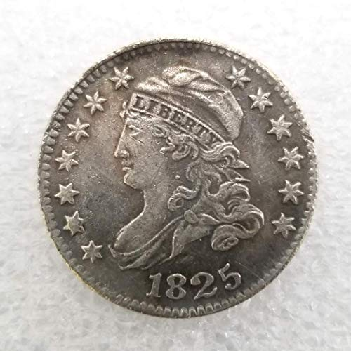 MarshLing 1825 Antique Great America Old Morgan Liberty 10-Cents-Dollar Coins - US Commemorative Coin Gift-Teaching Tool for Kids-Handmade Coin Perfect Quality