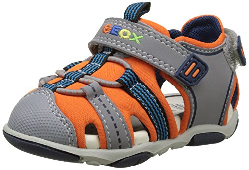 Geox B Sandal AGASIM BOY D, Baby Boys' Open Toe Sandals, Grey (Orange/greyc0437), 7 UK Child (24 EU)