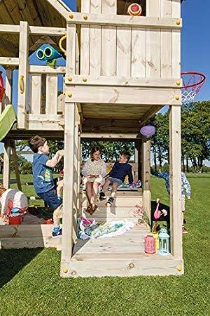 MASGAMES Parque Infantil Torre Palazzo con rampa de tobogán y Columpio Doble con Dos Asientos: Amazon.es: Juguetes y juegos