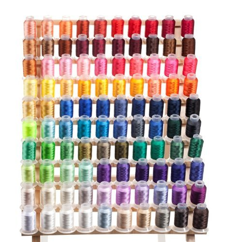 100 Spools Embroidery Machine Thread by Radiant Threads