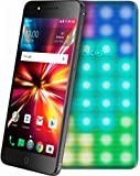 Cricket Wireless - Alcatel PULSEMIX 4G LTE with Lights Snapbak Smartphone - Metal Black