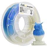AMOLEN 3D Printer Filament, UV/Sunlight Color Change to Blue PLA Filament 1.75mm +/- 0.03 mm, 200G/0.44lb, Includes Sample UV Color Change to Purple Filament - 100% USA