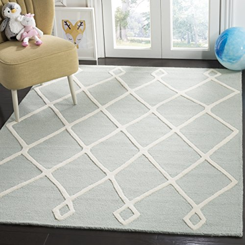 Safavieh Kids Collection SFK906M Handmade Mint Moroccan Wool Area Rug (5