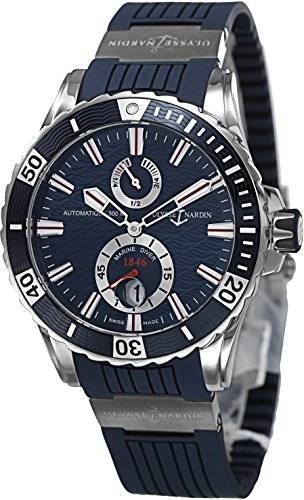 Ulysse-Nardin-Mens-Swiss-Automatic-Stainless-Steel-and-Rubber-Dress-Watch-ColorBlue-Model-26310393