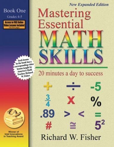 Mastering Essential Math Skills: 20 Minutes a Day to Success, Book 1: Grades 4-5 cover