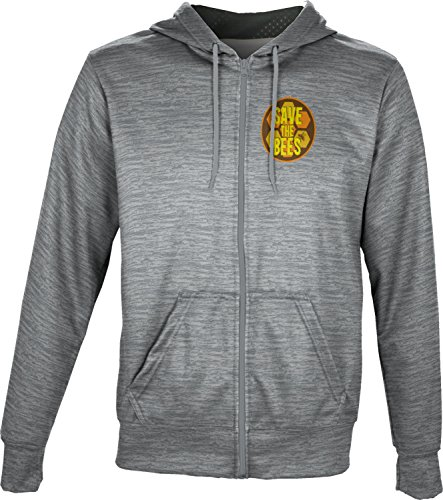 ProSphere Men's Save the Bees Causes Brushed Fullzip Hoodie (Apparel) - Bees Save The Donation