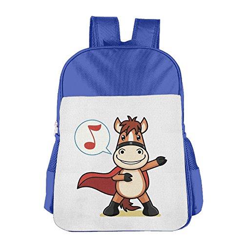 BlackPink Cute Horse School Bag Backpack For 4~15 Years Old (Milkman Costume Amazon)